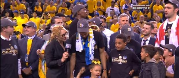 2017 NBA Championship Celebration From Golden State Warriors- [ Image - NBA | YouTube]