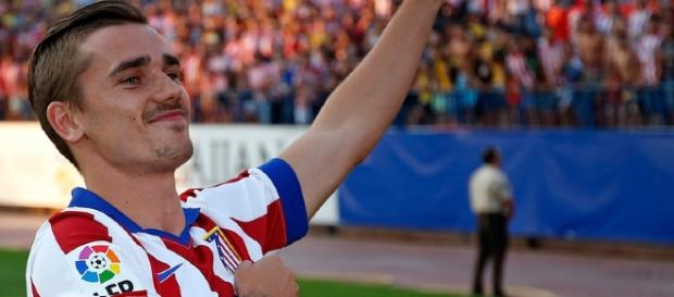 Atletico Madrid striker Antoine Griezmann celebrates one of his goals in the past. (Image Credit: Edison Yagual/Flickr)