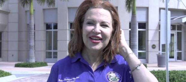 Bettina Rodriguez Aguilera is running for Congress in Miami. Image credit: YouTube/Doral TV.