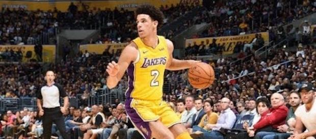 Lakers' rookie Lonzo Ball sat out four games of the preseason. Will he play in the Lakers' season opener this week? [Image via NBA/YouTube]