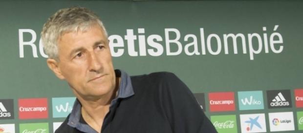 Quique Setién, técnico del Real Betis Balompié.