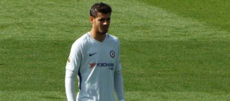 Chelsea striker Alvaro Morata poses for a photo after the 2-1 win over Leicester City. (Image Credit: Ian Johnson/Flickr)