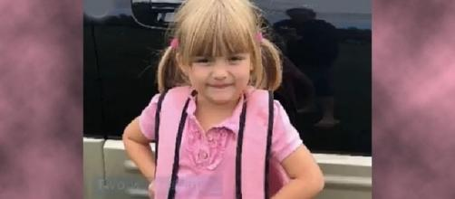 A 5-year-old girl emptied her piggybank so her friend could have milk at school [Image credit: CBS News/Facebook video]