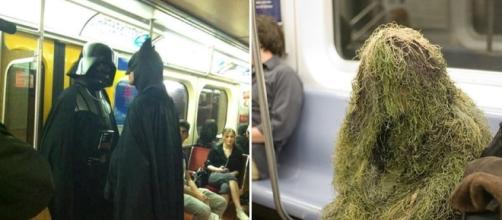 Algumas figuras estranhas que são encontradas nos transportes públicos.