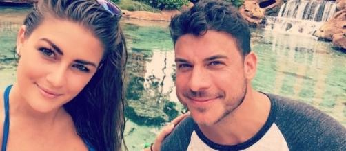 Brittany Cartwright and Jax Taylor enjoy a pond. [Photo via Instagram]