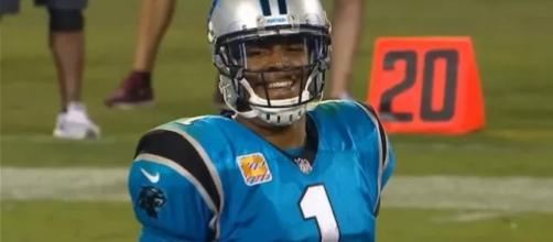 Cam Newton is looking to have a better performance against the Bears - (Image Credit: MLG Highlights/YouTube)