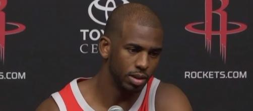 Chris Paul is still experiencing soreness in his left knee; (Image Credit: ESPN/YouTube)