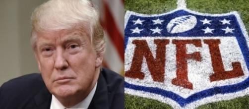 Donald Trump, NFL logo, via Twitter