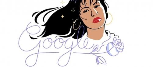 Google's latest doodle is in honor of Latin superstar Selena, who released her first album on October 17, 1989. | Credit (googledoodles/YouTube)