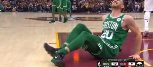 Gordon Hayward apparently suffered a dislocated ankle – image – Ximo Pierto-NBA /Youtube
