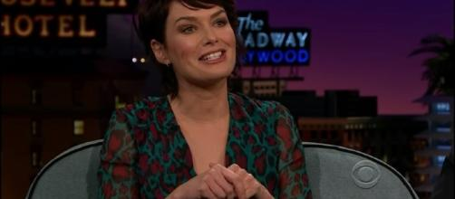 Lena Headey's Newborn Baby Had a Game of Thrones Superfan Nurse | (Image Credit: The Late Late Show with James Corden/YouTube)