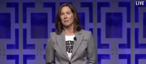 Lucasfilm executive Kathleen Kennedy. Image credit: Star Wars/YouTube