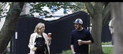 Marcus Mumford and Carey Mulligan make time for family and a little coffee while taking a stroll. Celeb Magazine/YouTube screencap