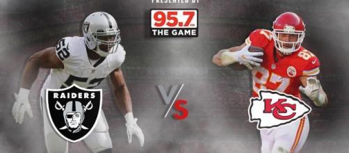 "OAKLAND RAIDERS on Twitter: ""Raiders. Chiefs. A division showdown ... (Image Credit: Raiders/Twitter.com)"