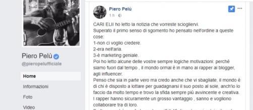 Piero Pelù risponde su Facebook allo scioglimento degli Elii
