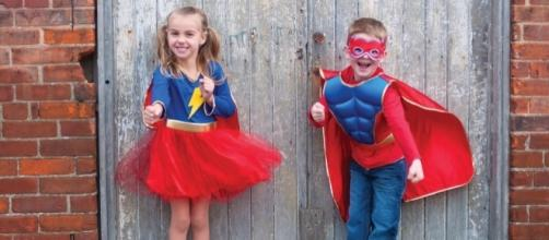 Superhero costumes are incredibly popular this Halloween season. (Image Credit: Dianne Stitzel and Great Pretenders, used with permission.)