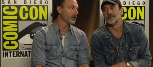 The Walking Dead Season 7 Andrew Lincoln & Jeffrey Dean Morgan Yahoo! Interview Comic Con 2016 | Image Credit: Stars Imagine/YouTube