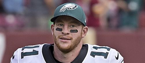 Wentz could go to the Super Bowl early. Image via Mersin/Wikimedia Commons