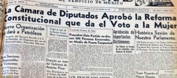 El 17 de octubre de 1953, en México la mujer obtuvo el derecho al voto.