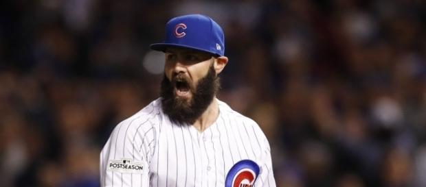 Jake Arrieta tuvo la que puede ser su última apertura con la franela de los Cubs.