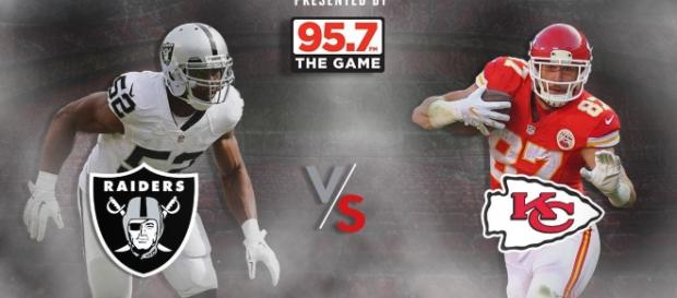 "OAKLAND RAIDERS on Twitter: ""Raiders. Chiefs. A division showdown ... (Image Credit: Raiders/Twitter.com)"