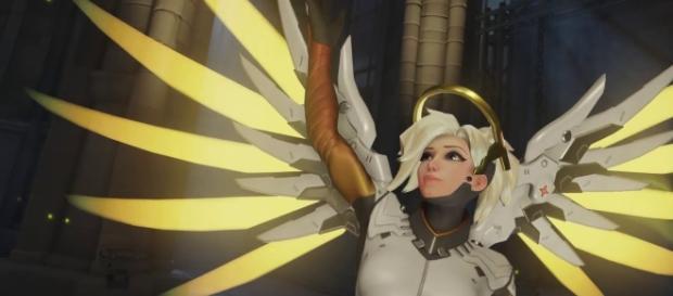 'Overwatch' hero Mercy. (image source: Konshu/YouTube)