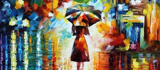 Rain Princess- 1059x1061 - Leonid Afremov