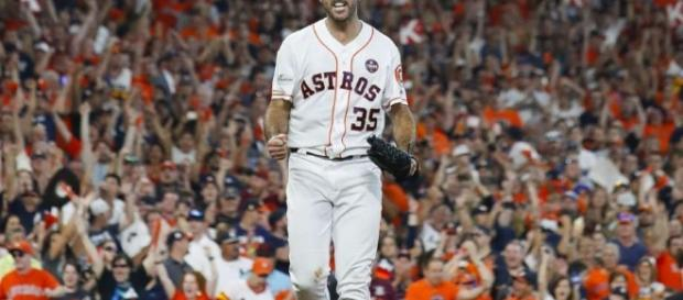 Verlander walks off with a lead! (Photo: Karen Warren/Houston Chronicle)