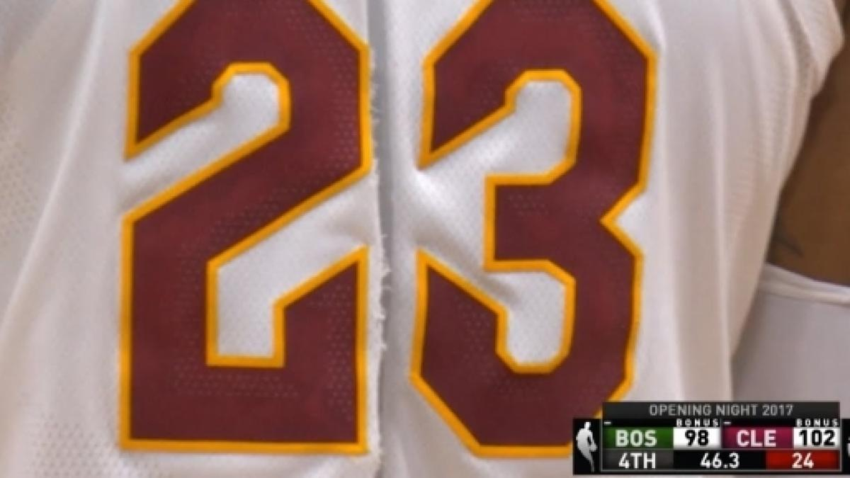 best sneakers fa775 8f325 Look where LeBron James' game worn torn jersey is heading