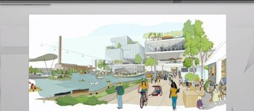 Artist's rendition of the planned Quayside neighborhood by Google parent company Alphabet. | Credit (CityNewsToronto/YouTube)