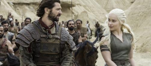 Daenerys Targaryen e Daario Naharis di Game of Thrones