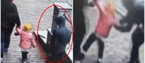 Homem tenta sequestrar criança (Foto: Captura de vídeo)