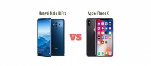 Huawei Mate 10 Pro e Apple iPhone X a confronto