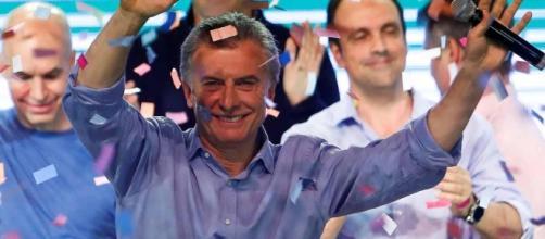 Macri celebrando el resultado de las elecciones