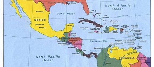 Middle America by CIA, original political map from Perry-Castañeda Library Map Collection; University of Texas Library Online/Wikimedia Commons