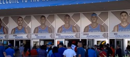 Minnesota Timberwolves vs Oklahoma City Thunder on Sunday night at Chesapeake Energy Arena. [Image Credit: NBA Conference/YouTube]