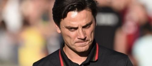 Montella preoccupato dirige un Milan in difficoltà (foto di ilmessaggero.it)