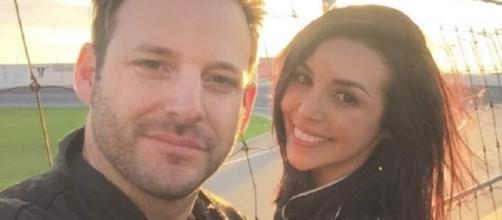 Scheana Marie and her boyfriend visit a race track. [Photo via Instagram]