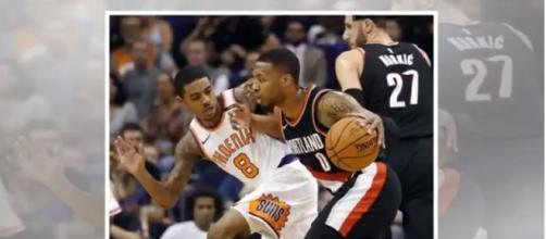 The Blazers win against the Suns in the NBA season opener game. Image Credit: News the World/YouTube