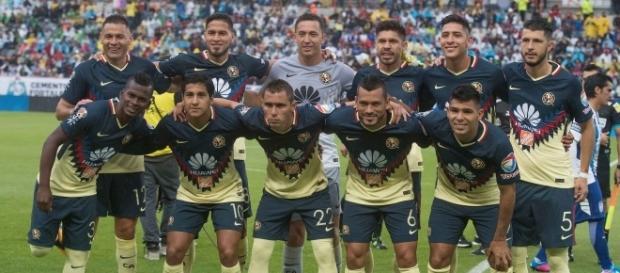 El 11 americanista en un encuentro de la Liga MX
