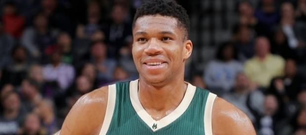 Giannis Antetokounmpo had 37 points in the Milwaukee Bucks' season-opening win over the Celtics. [Image via NBA/YouTube]