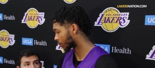 Los Angeles Lakers forward Brandon Ingram. (Image Credit: @LakersNation/YouTube)