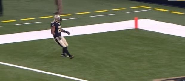 Mark Ingram against the Detroit Lions. [Image Credit: NFL/YouTube]