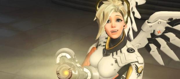 'Overwatch' hero Mercy. (image credit: Overwatch/YouTube)