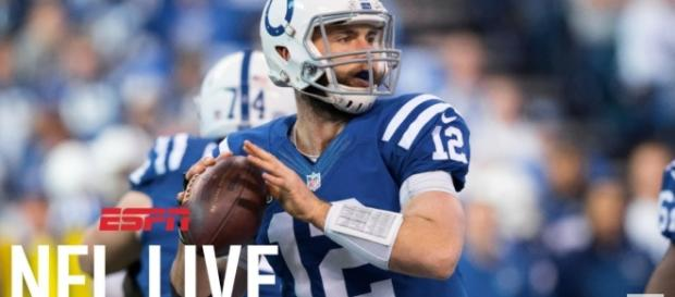 Should Andrew Luck sit out the remainder of the season [Image credit - - ESPN/YouTube]