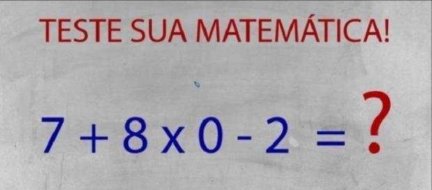 Teste de matemática deixa muitos confusos