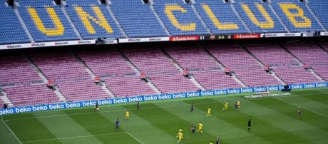 FC Barcelona jugó Las Palmas en un vacío Nou Camp Getty 2017.
