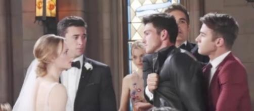Ben wreaks havoc on the double wedding - Image via YouTube screenshot