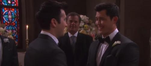 Days of our Lives Sonny and Paul. [Image via NBC/YouTube screencap]