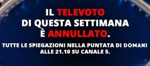 Grande Fratello Vip, televoto di nuovo annullato - today.it